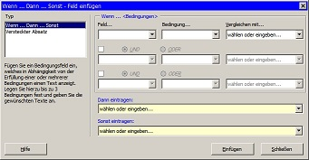 Screenshot - Extension Serienbriefbedingungen